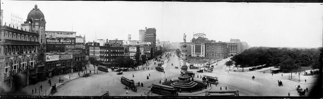 Old photo of New York City: Columbus Circle