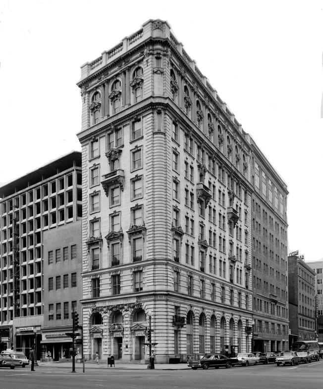 Old photo of Evening Star building in Washington